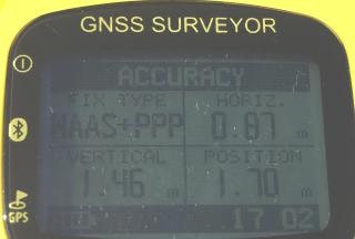 GNSS Surveyor WAAS+PPP